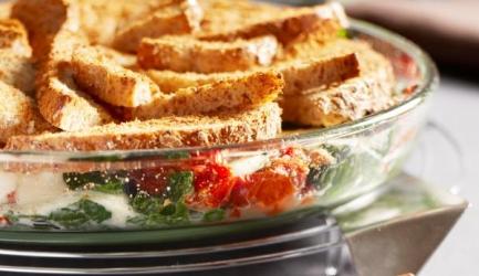 Spinazie-broodschotel recept