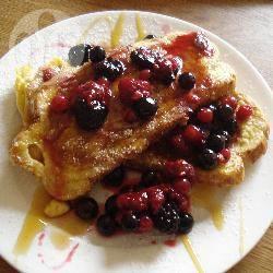 Wentelteefjes met fruit recept
