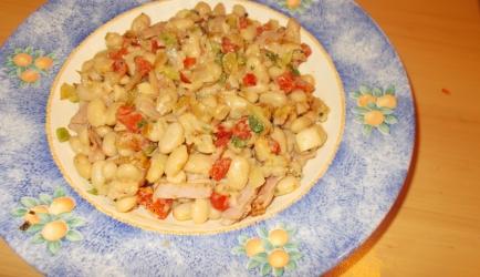 Snel: romige witte bonen met ham, paprika en blauwe ...