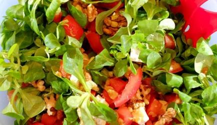 Salade met brie, walnoot en honing