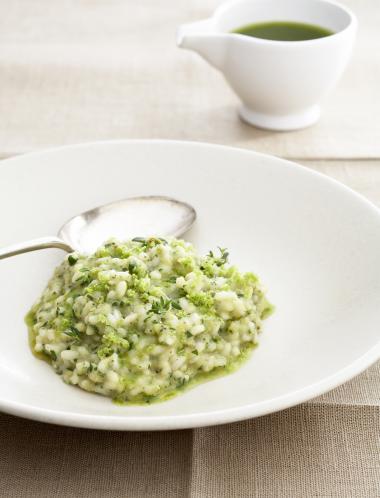 Recept 'risotto met romanesco en tijm'
