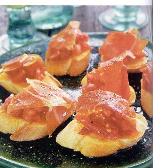 Tapas van tomatenbrood met heerlijk serranoham recept ...