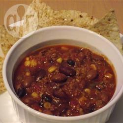 Chili con carne met kalkoengehakt recept