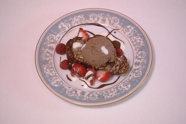 Appel-bananenbrood met chocolademousse van quinoa en ...