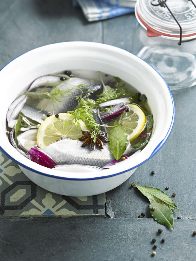 Recept 'gepekelde maatjes met verse kruiden en citroen'
