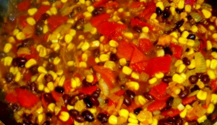 Vegetarisch tacos met groente en bonen vulling recept