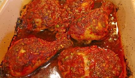 Lekker pittige, rijk gemarineerde, chili kip recept