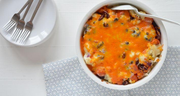 recept bloemkool aardappel ovenschotel vegetarisch
