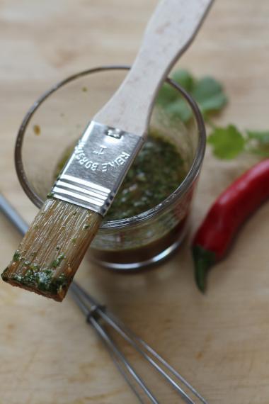 Recept 'marinade met chili, koriander en limoen'