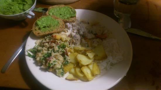 Kip in roomsaus met rijst of aardappeltjes recept