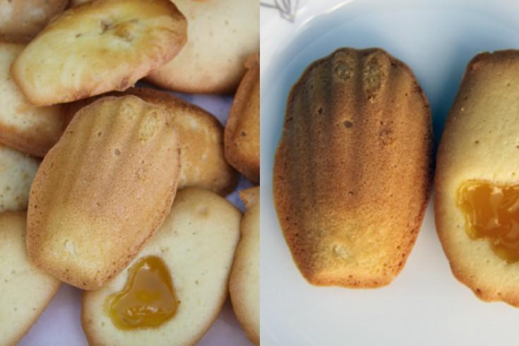 Madeleines met citroenvulling