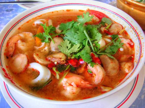 Thaise traditionele tom yum kung soep recept
