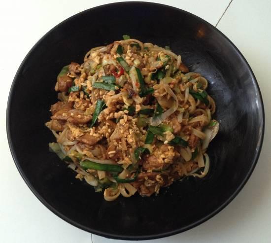 Pad thai met kip recept