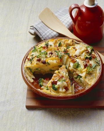 Recept 'tortilla met wintergroenten'