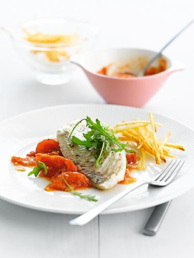 Recept 'tarbot met compote van tomaten'