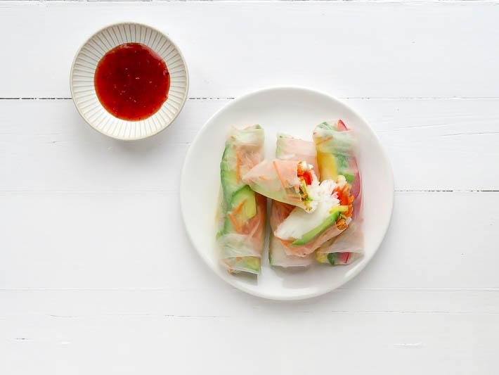 Lekker recept om zelf vietnamese springrolls te maken met mango