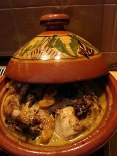 Gemarineerde kip met tutti frutti uit de tajine recept