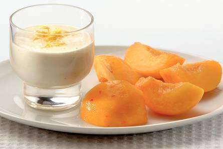 Roomtoetje met gember en perzik