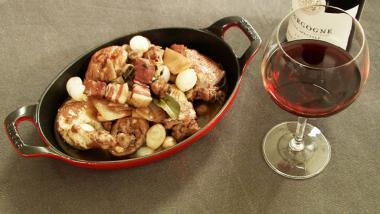Recept 'coq au vin'