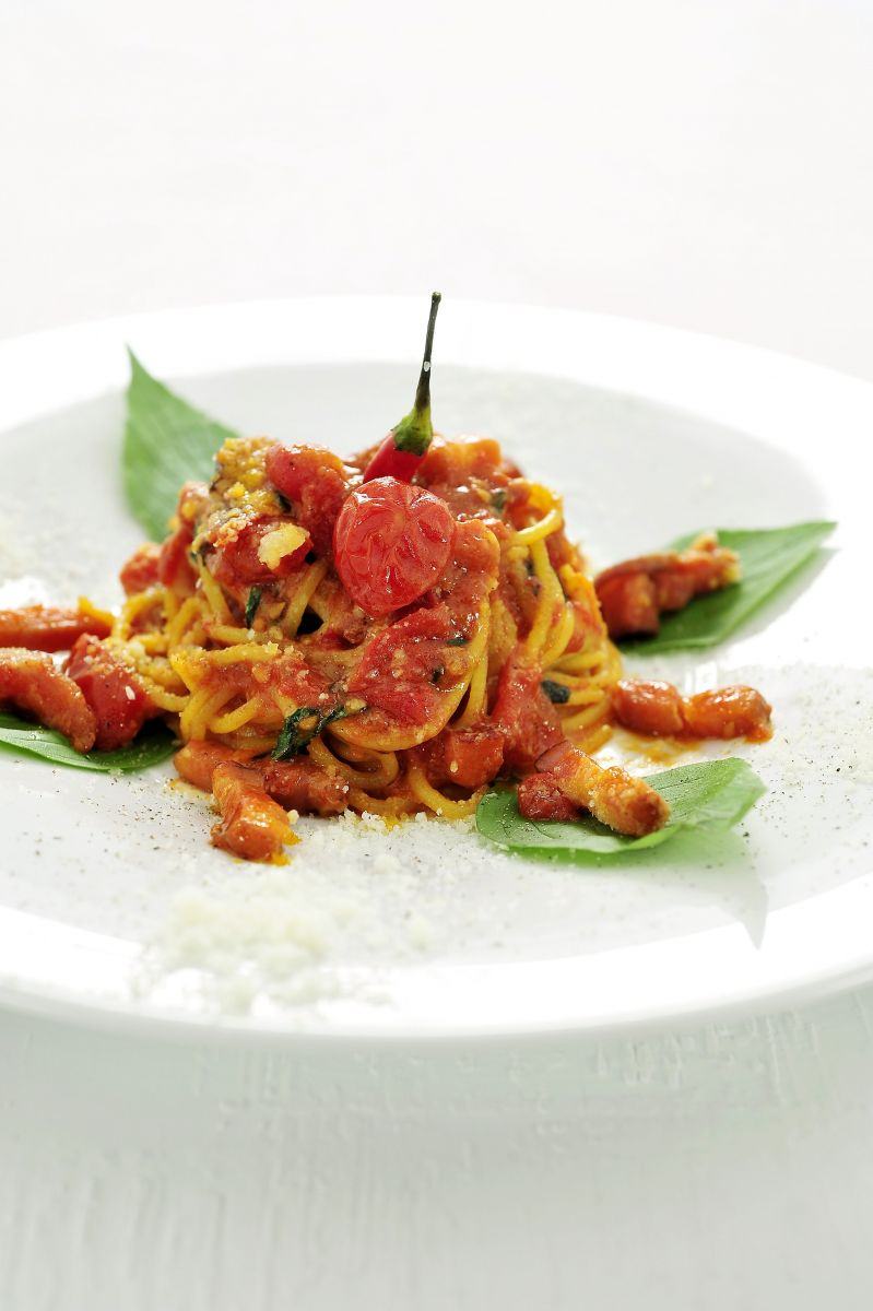 Recept 'spaghetti all' amatriciana'