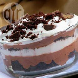 Chocolade trifle met brownies recept