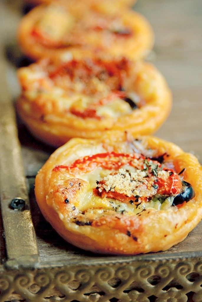 Recept 'pizza hapjes'