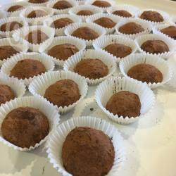 Pindatruffels recept