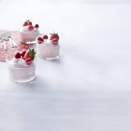 Roze yoghurtmousse recept