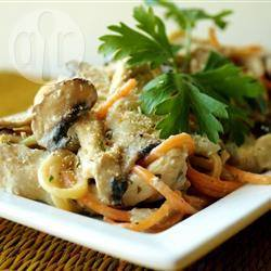 Romige kip en pasta uit de slowcooker recept
