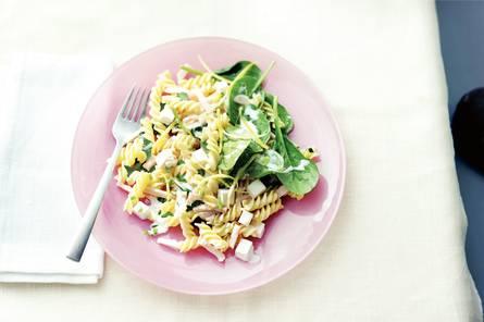 Fusilli met spinazie, citroen en slagroom
