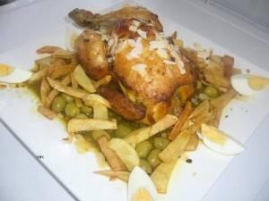 Marokkaanse gebraden kip met olijven en gekookte eieren recept ...