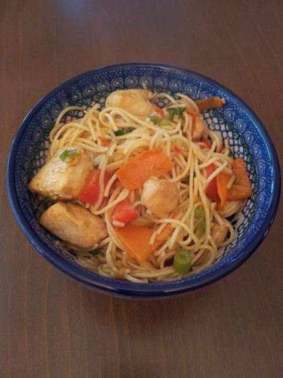 Chicken chow mein (chinese bami met kip) recept