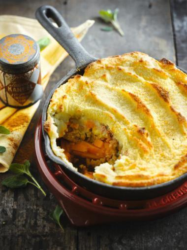 Recept 'gratin van pompoen, gehakt en aardappelpuree'