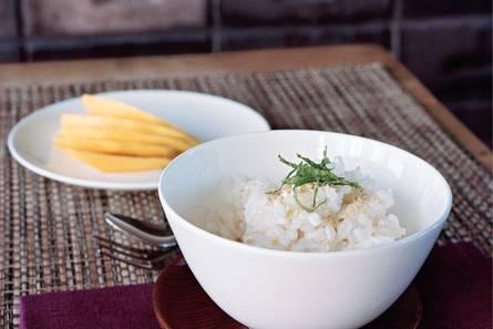 Kokosrijst met mango en munt