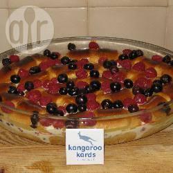 Brioche pudding met bosbessen en frambozen recept