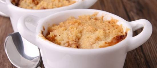 Apple crumble (of apple & pear crumble) recept