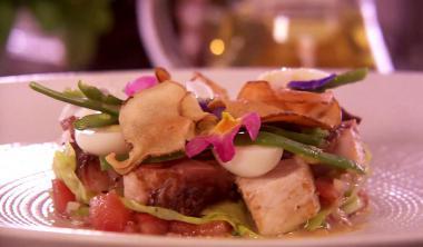Recept 'salade niçoise met zwaardvis'
