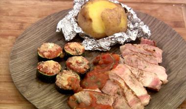 Recept 'varkenskotelet op de barbecue'