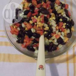 Warm-weer-bonen-mango salade recept