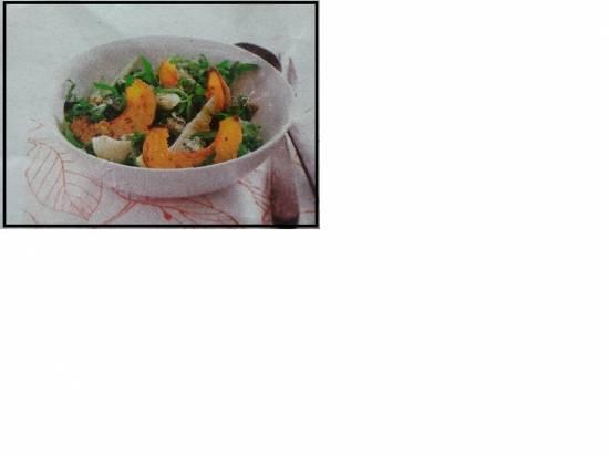 Geroosterde pompoensalade met gorgonzola recept