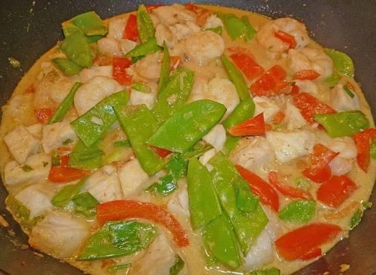 Thaise vis-garnalencurry (pittig en slank) recept