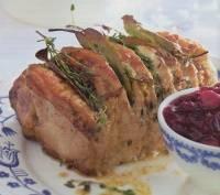 Gemarineerde rollade met cranberrysaus recept