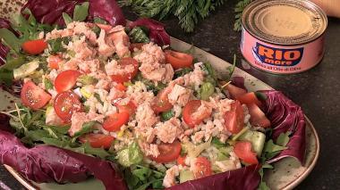 Recept 'italiaanse rijstsalade met tonijn'