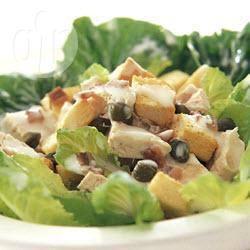 Caesarsalade met kalkoen recept
