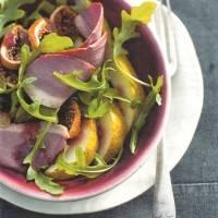 Salade van gerookt eendenborstfilet met peer en vijgen recept ...