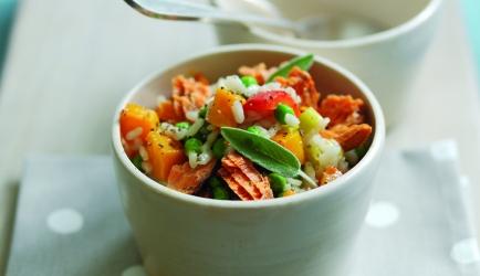 Geroosterde pompoen risotto met rode alaska zalm recept ...