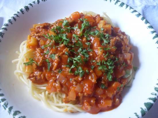 Gehakt  courgettesaus voor pasta recept