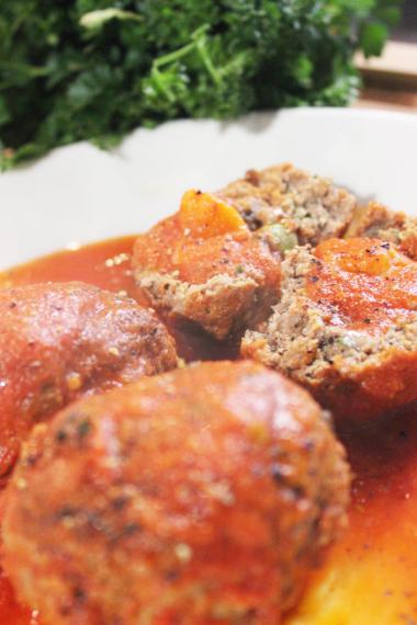 Recept 'peppe's polpette of balletjes in tomatensaus'