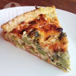 Hartige taart met broccoli en brie recept