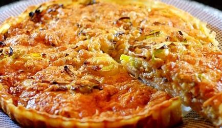 Quiche met prei, champignons, bacon en kaas recept